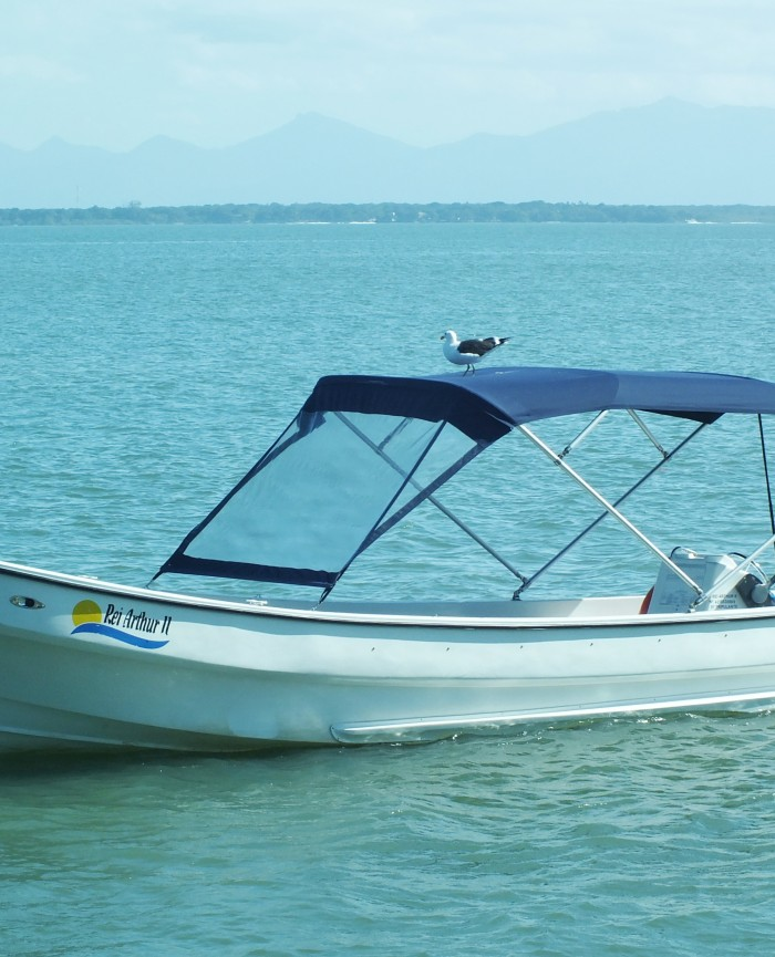 Barco privativo da Pousada, táxi náutico